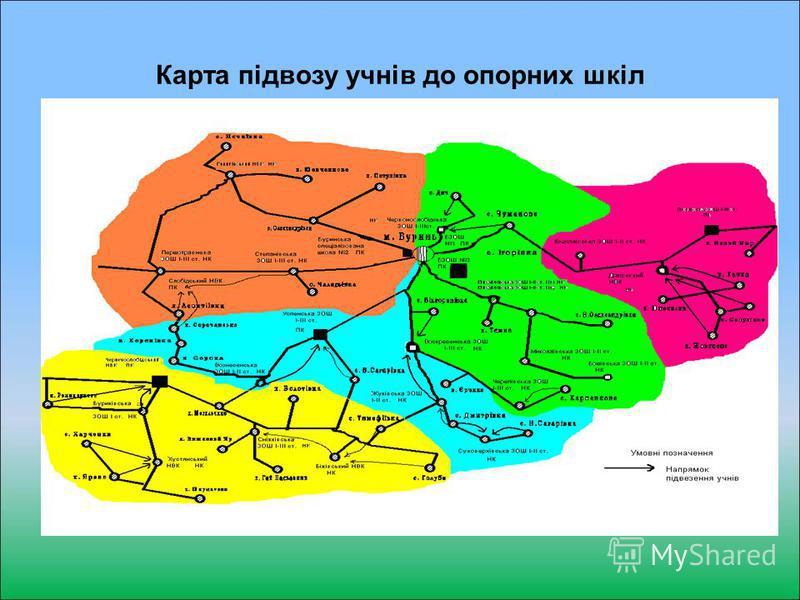 Карта підвозу учнів до опорних шкіл