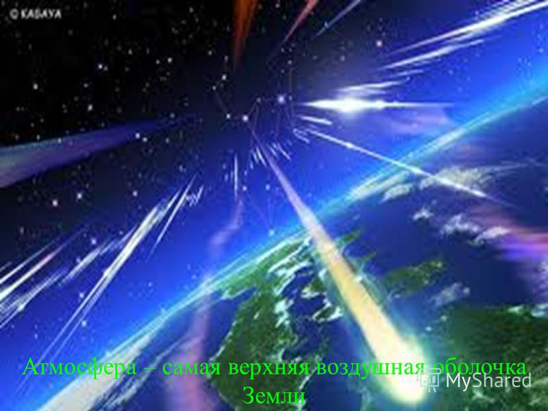 Атмосфера – самая верхняя воздушная оболочка Земли