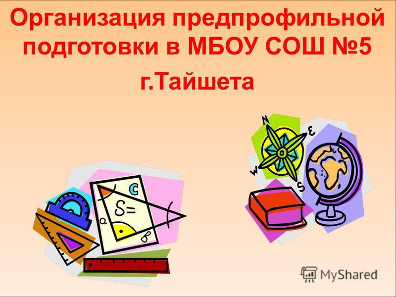 Организация предпрофильной подготовки в МБОУ СОШ 5 г.Тайшета