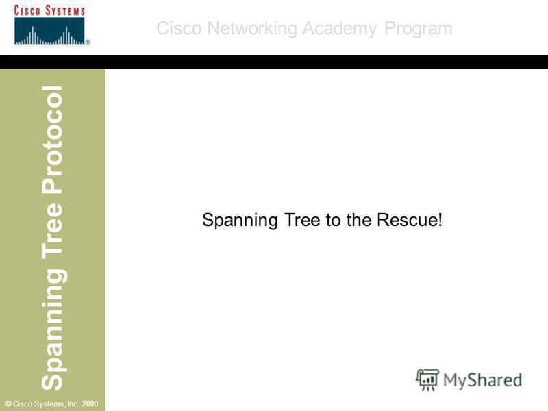 Spanning Tree Protocol Cisco Networking Academy Program © Cisco Systems, Inc. 2000 Spanning Tree to the Rescue!