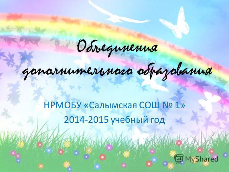Объединения дополнительного образования НРМОБУ «Салымская СОШ 1» 2014-2015 учебный год