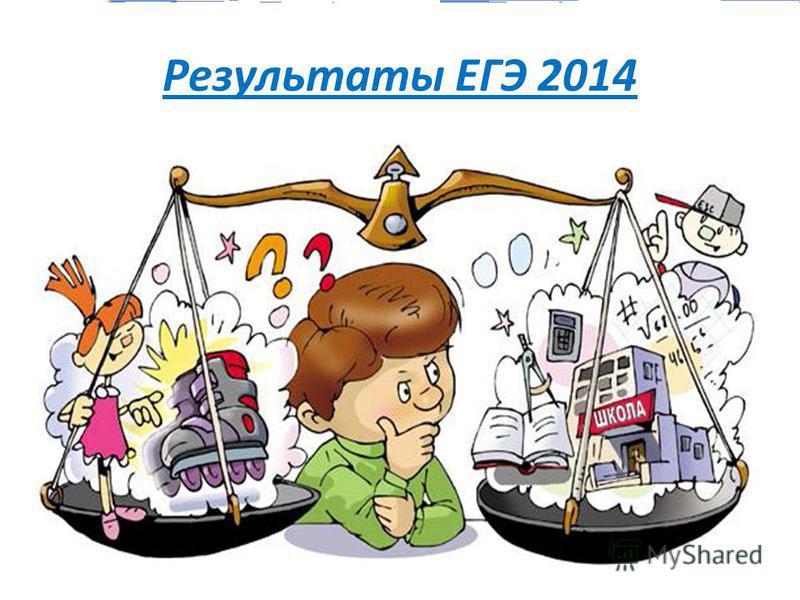 Результаты ЕГЭ 2014