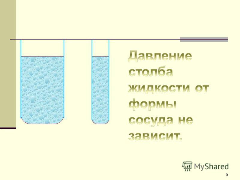 4 Вода плотность 1000 кг/м 3 Керосин плотность 800 кг/м 3