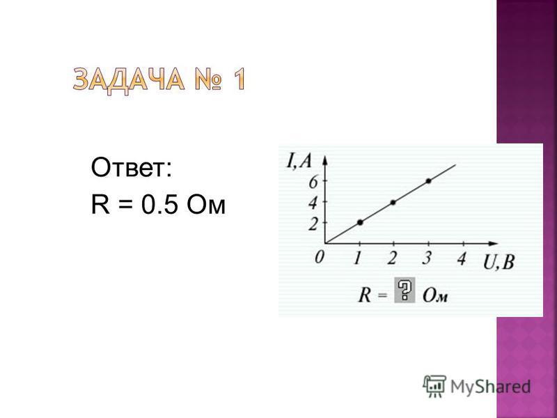 Ответ: R = 0.5 Ом