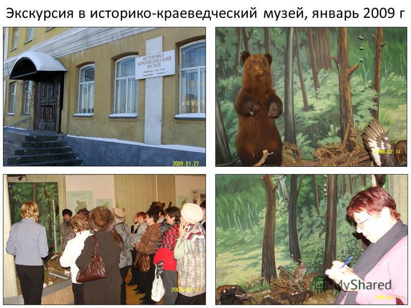 Экскурсия в историко-краеведческий музей, январь 2009 г