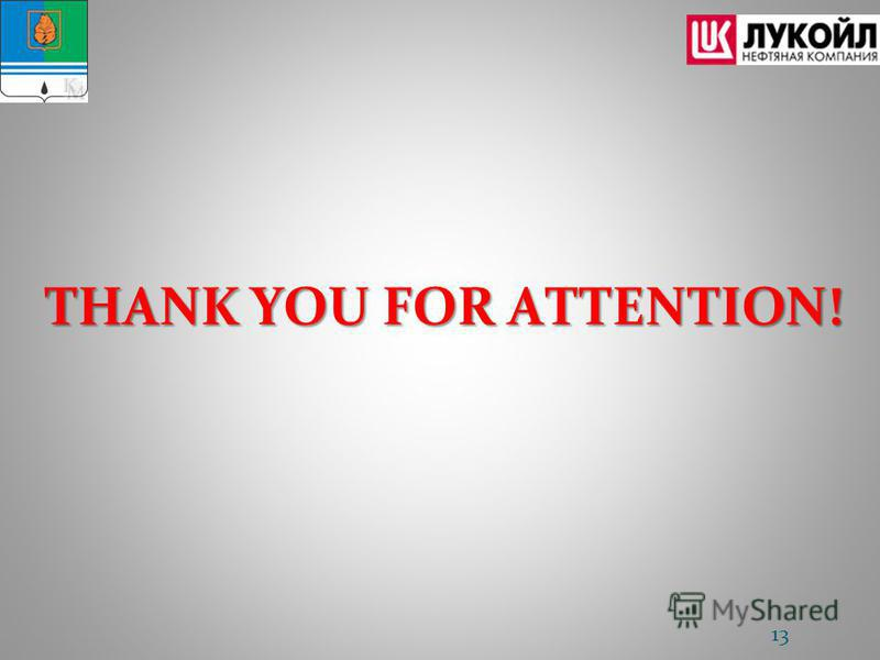 THANK YOU FOR ATTENTION! 13