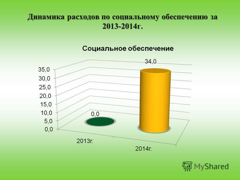 Динамика расходов по социальному обеспечению за 2013-2014 г.