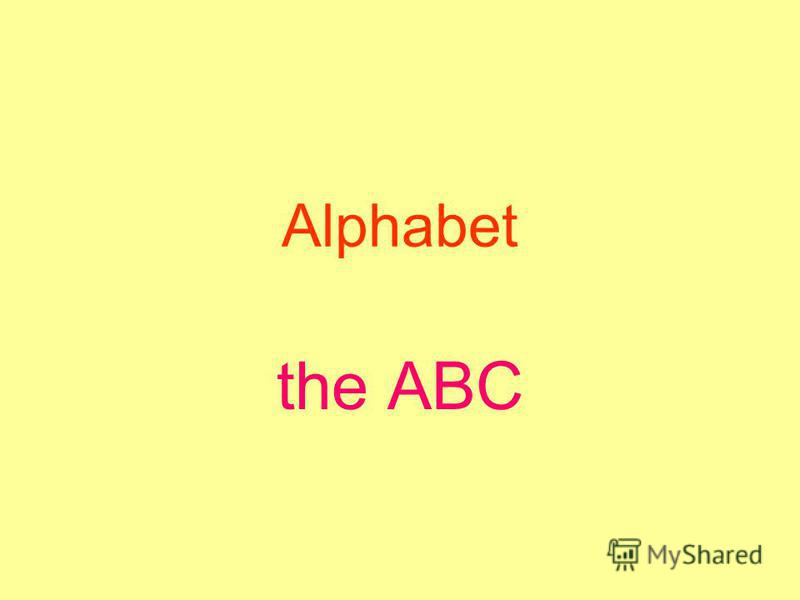 Alphabet the ABC