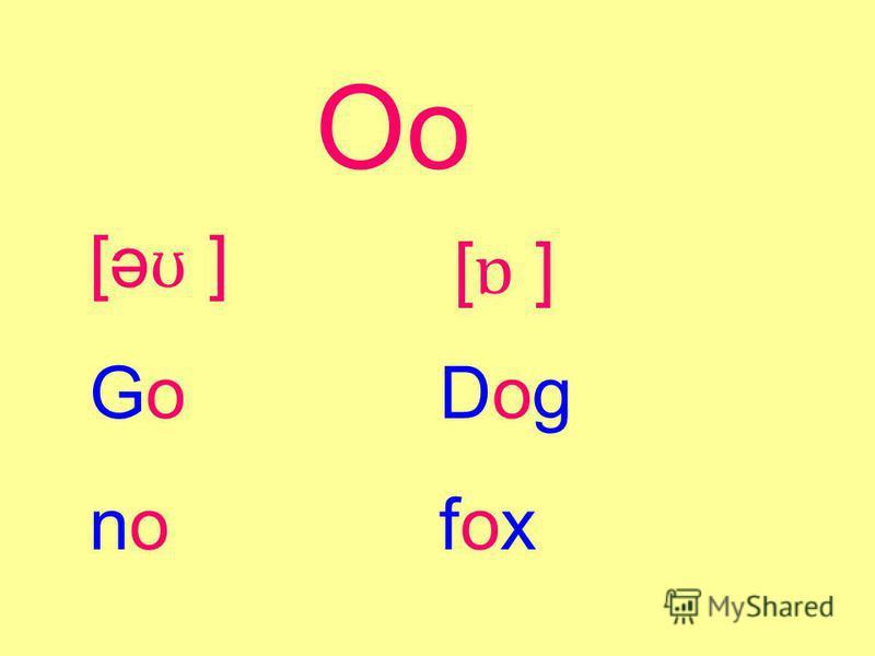 Oo [əʊ ][əʊ ] [ɒ ][ɒ ] DogfoxDogfox GonoGono