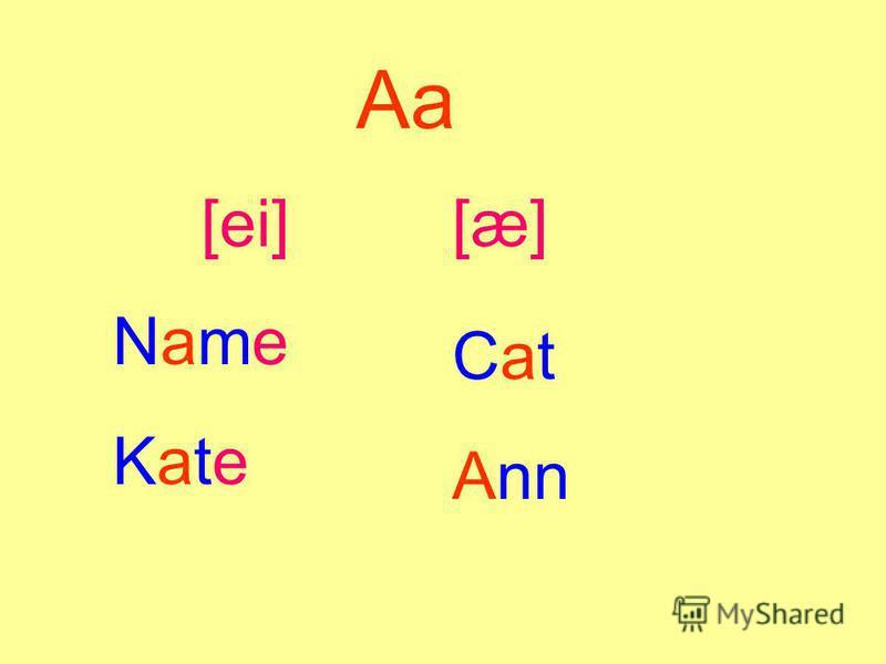 Aa [ei][æ] NameKateNameKate Cat Ann