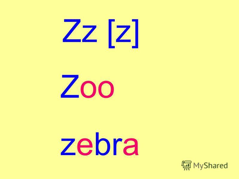 Zz [z] Zoo zebra