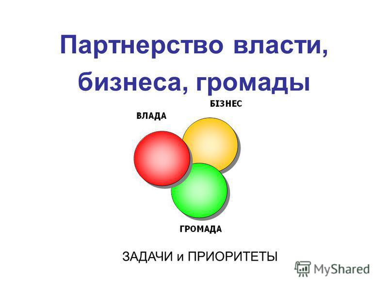 Партнерство власти, бизнеса, громады ЗАДАЧИ и ПРИОРИТЕТЫ