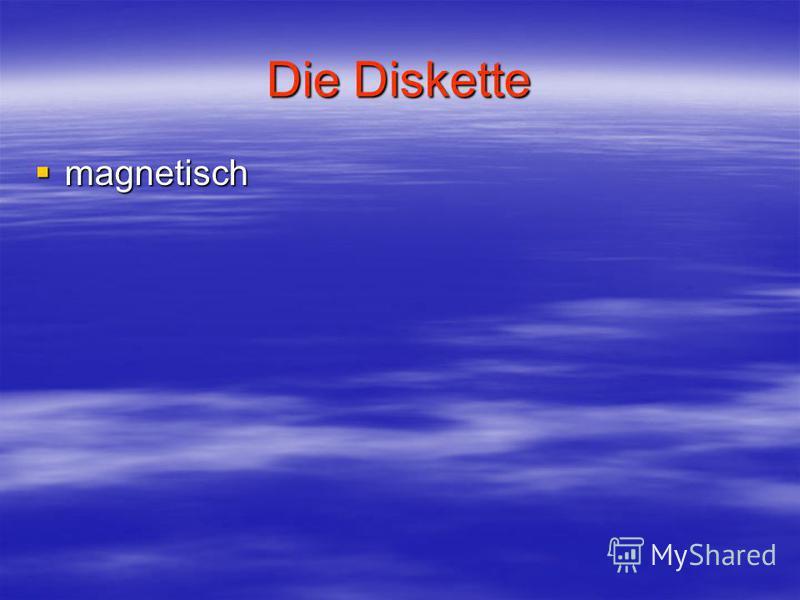 Die Diskette magnetisch magnetisch