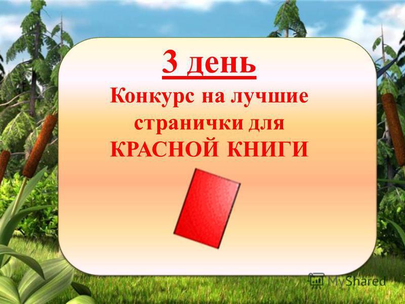 3 день Конкурс на лучшие странички для КРАСНОЙ КНИГИ