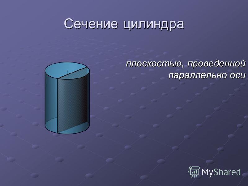 Сечение цилиндра плоскостью, проведенной параллельно оси