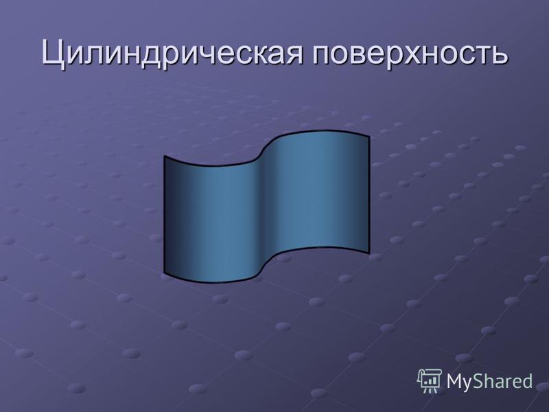 Цилиндрическая поверхность