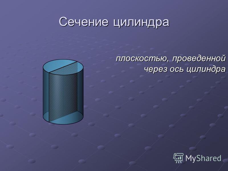 Сечение цилиндра плоскостью, проведенной через ось цилиндра