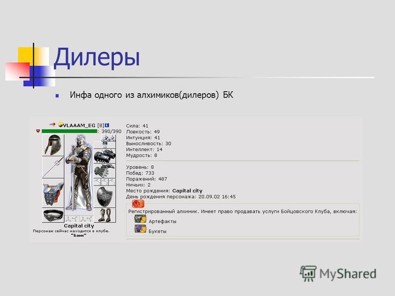 Дилеры Инфа одного из алхимиков(дилеров) БК