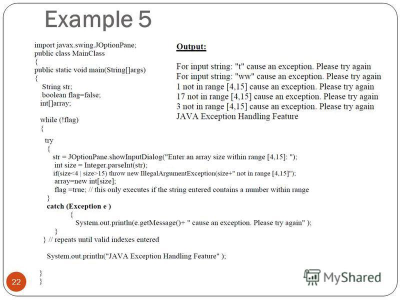 Example 5 22