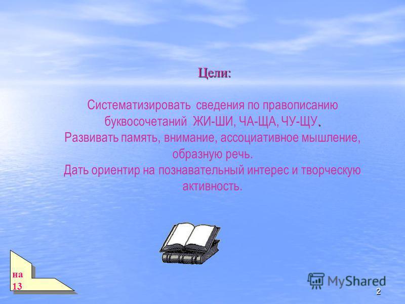 1 Русский язык в 1 классе Тема: Тема: Шипящие согласные звуки. Правописание буквосочетаний ЖИ-ШИ, ЧА-ЩА, ЧУ-ЩУ.
