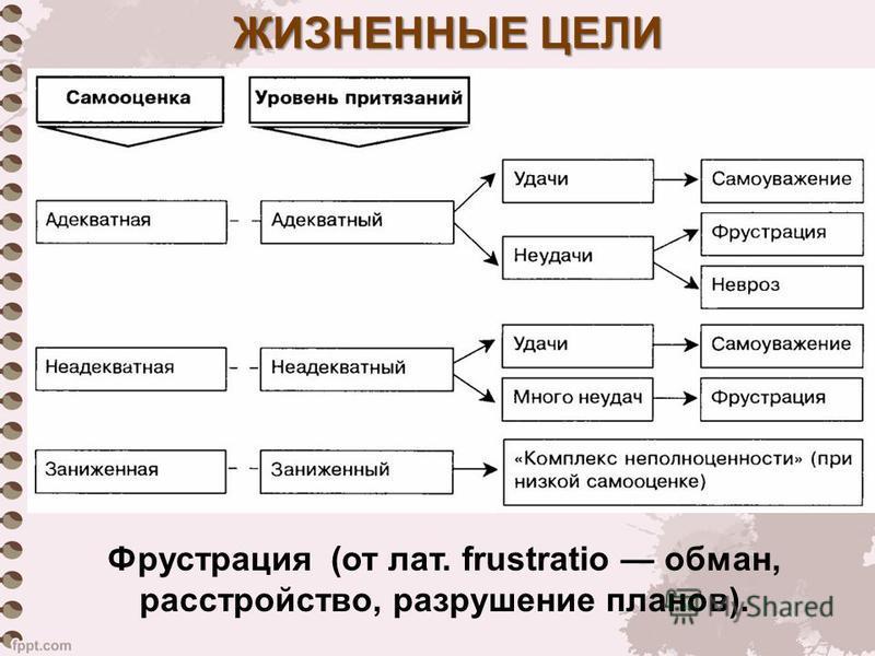 ЖИЗНЕННЫЕ ЦЕЛИ Фрустрация (от лат. frustratio обман, расстройство, разрушение планов).