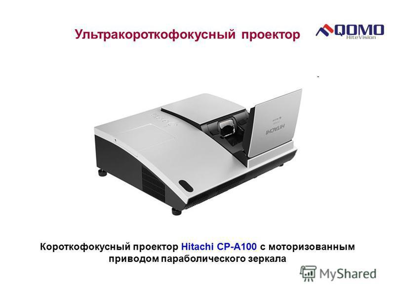 Ультракороткофокусный проектор Короткофокусный проектор Hitachi CP-A100 с моторизованным приводом параболического зеркала