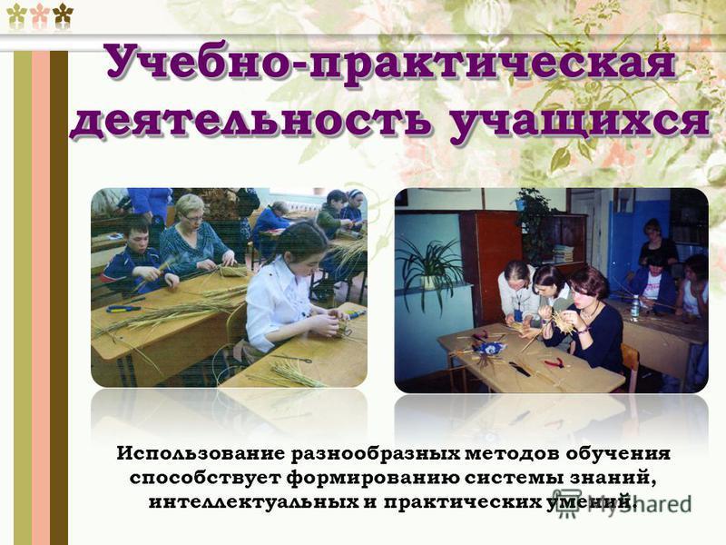 Использование разнообразных методов обучения способствует формированию системы знаний, интеллектуальных и практических умений. Учебно-практическая деятельность учащихся