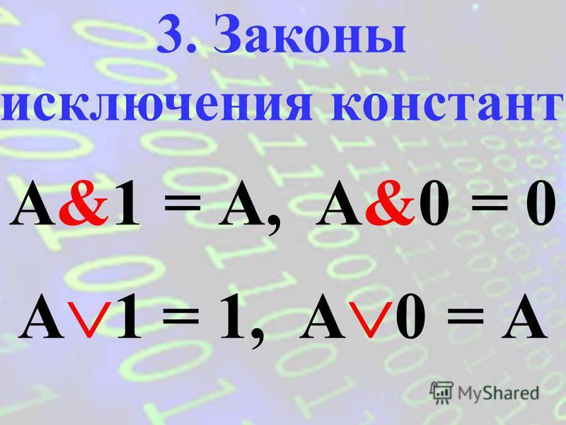 A&A = A A A = A 2. Закон идемпотентности