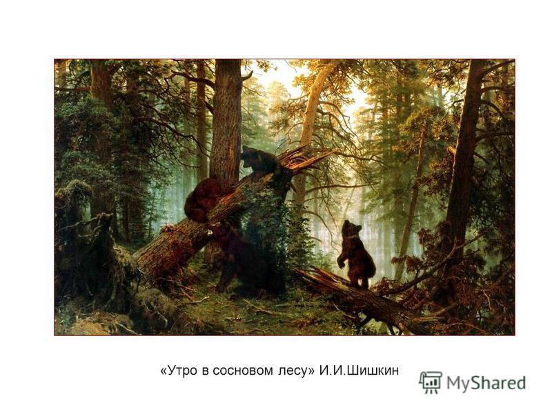 «Утро в сосновом лесу» И.И.Шишкин