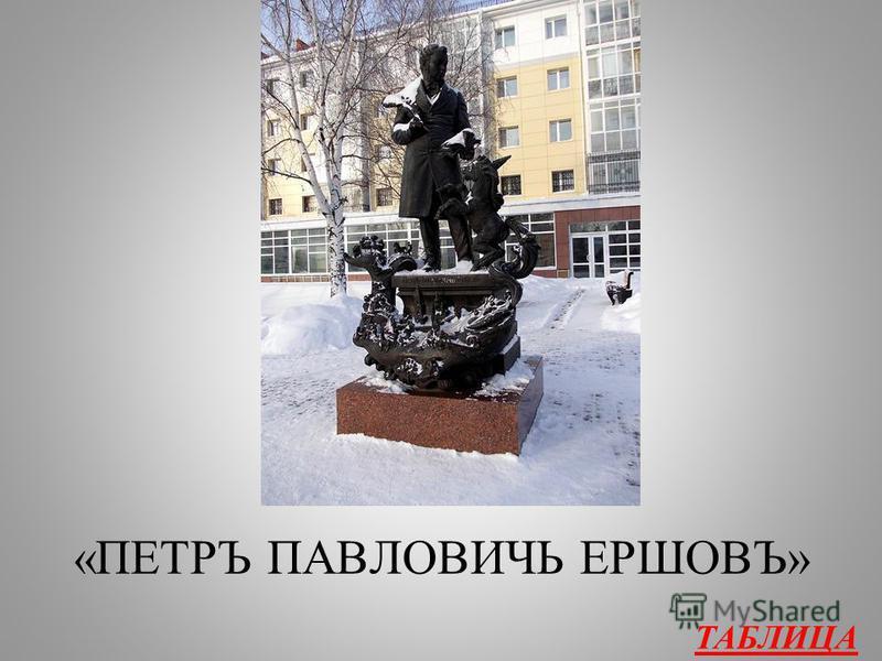 Автор 500 Какие слова можно прочитать на памятнике Ершову в Тобольске?