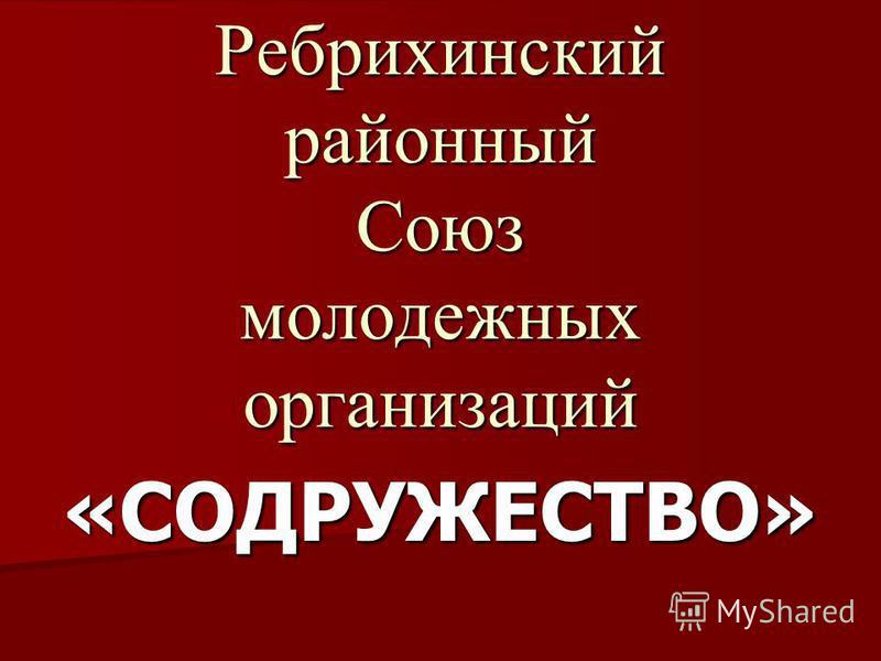 Ребрихинский районный Союз молодежных организаций «СОДРУЖЕСТВО»