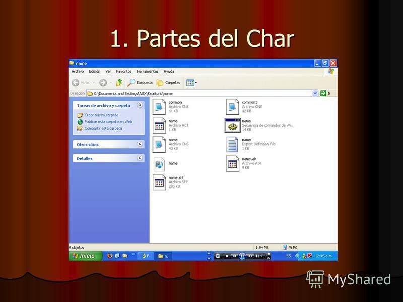1. Partes del Char