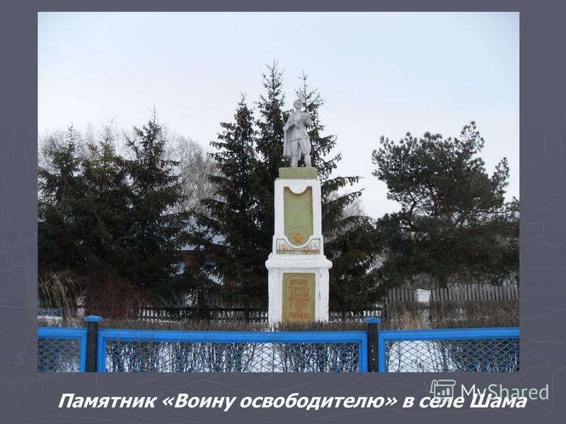 Памятник «Воину освободителю» в селе Шама