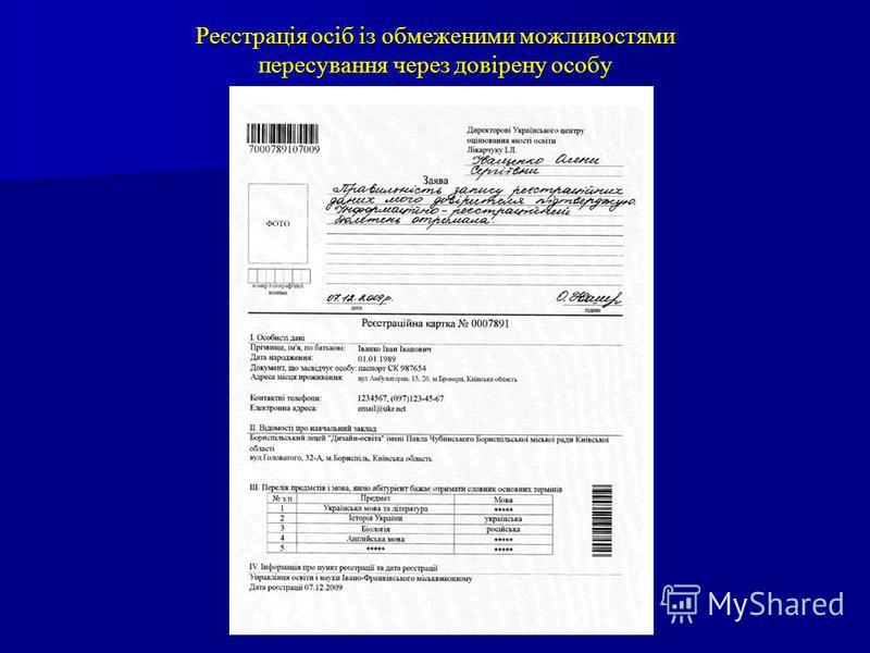 Реєстрація осіб із обмеженими можливостями пересування через довірену особу
