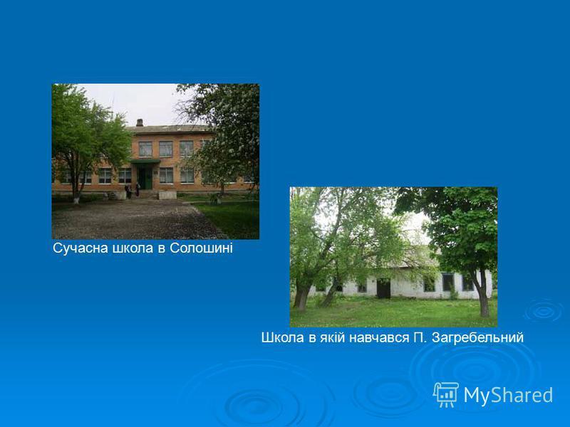 Сучасна школа в Солошині Школа в якій навчався П. Загребельний