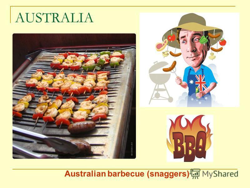 AUSTRALIA Australian barbecue (snaggers)