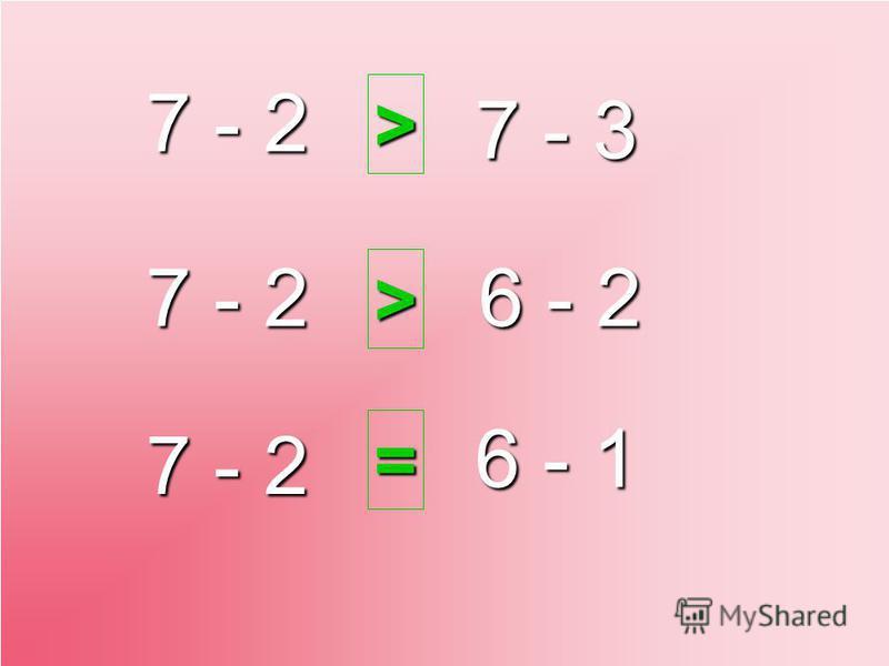 7 - 2 6 - 1 7 - 2 7 - 3 6 - 2 > > =