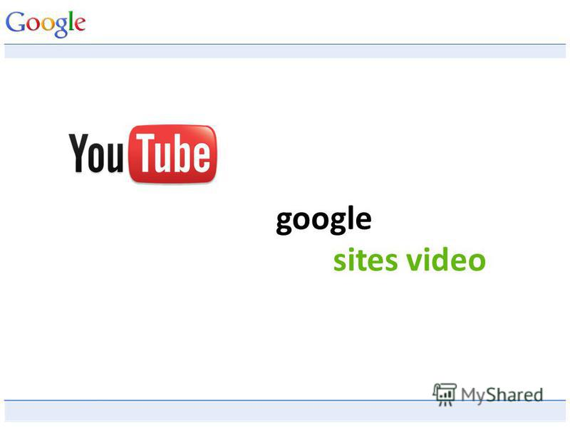 google sites video