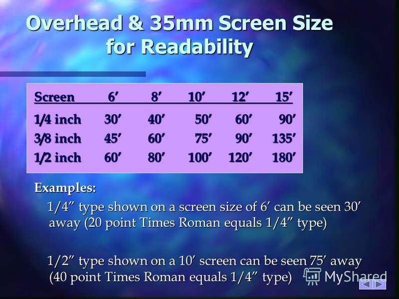 Aspect Ratios for Media n Overhead Transparency 4:5 n Video 3:4 n 35mm Transparency 2:3