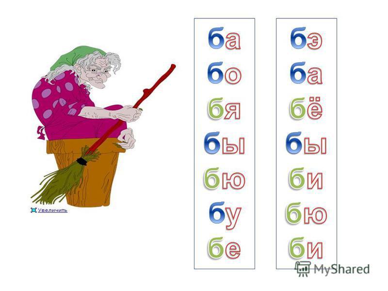 знакомство детей с буквой б