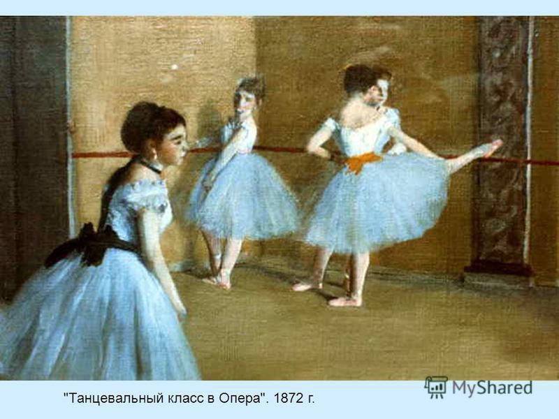 Танцевальный класс в Опера. 1872 г.