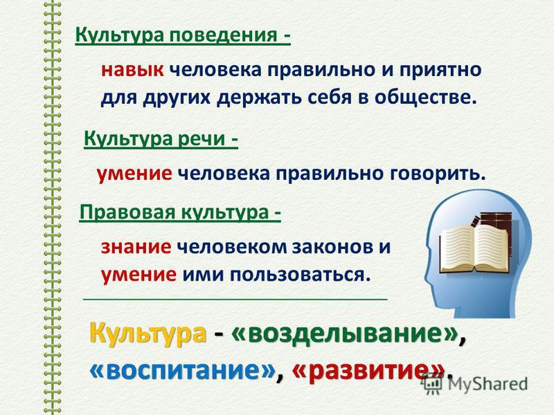 В русском языке до 19 века понятию «культура» соответствовало слово «просвещение».