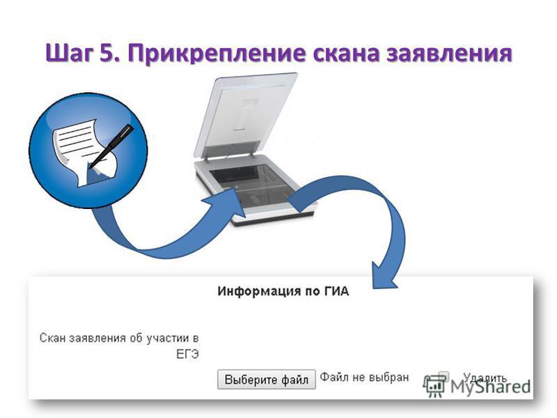 Шаг 5. Прикрепление скана заявления