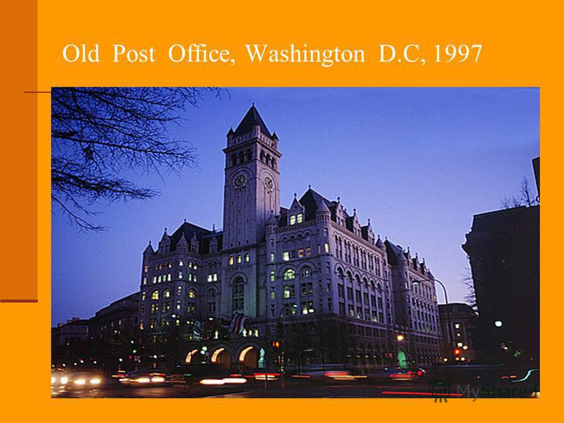 Old Post Office, Washington D.C, 1997