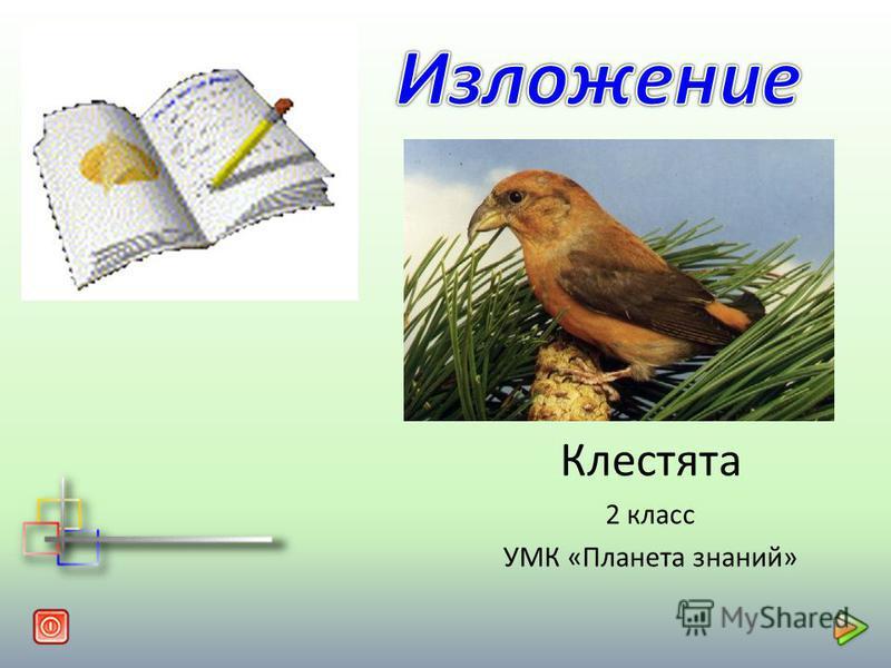 Клестата 2 класс УМК «Планета знаний»