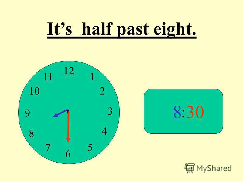 12 9 3 6 1 2 4 57 8 10 11 : 830 Its half past eight.