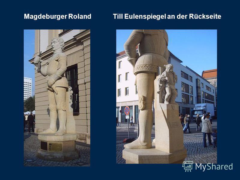 Magdeburger Roland Till Eulenspiegel an der Rückseite