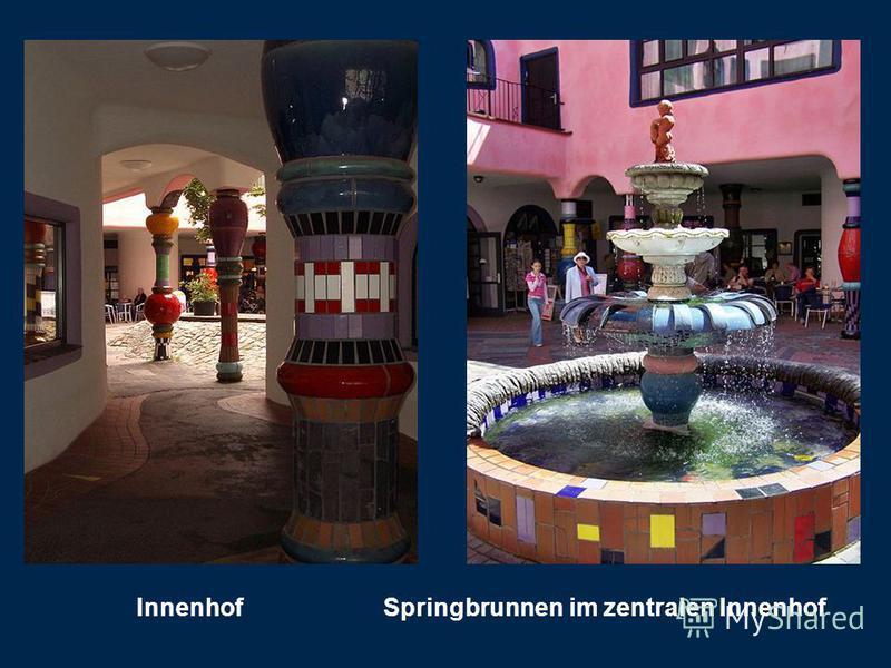 Innenhof Springbrunnen im zentralen Innenhof