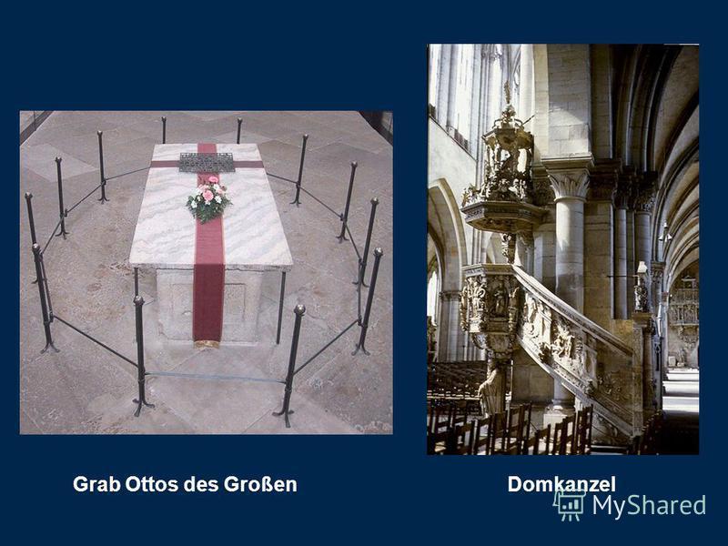 Grab Ottos des Großen Domkanzel