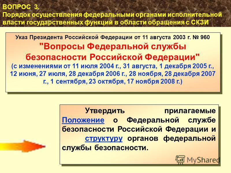 51 Указ Президента Российской Федерации от 11 августа 2003 г. 960